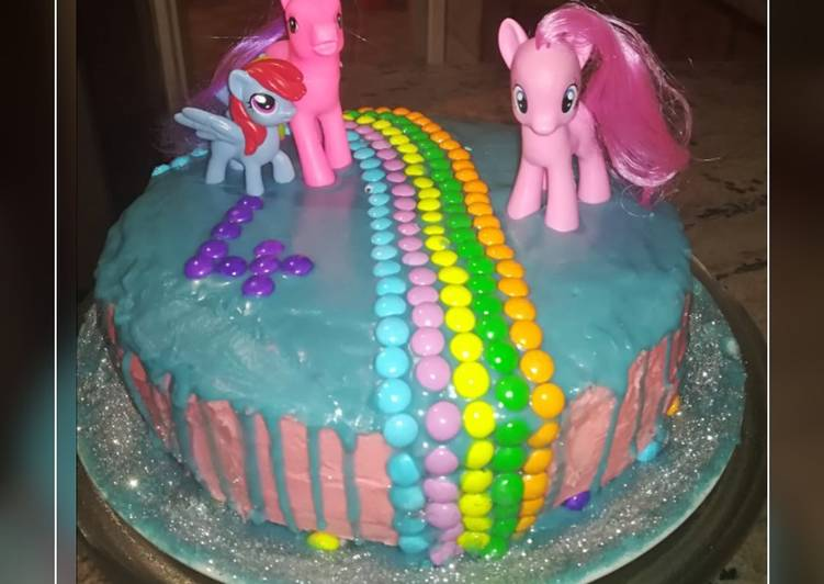 My little pony chocolate b.day cake