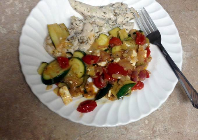 Easiest Way to Prepare Ultimate Lemon-thyme Chicken With Sautéed Vegetables
