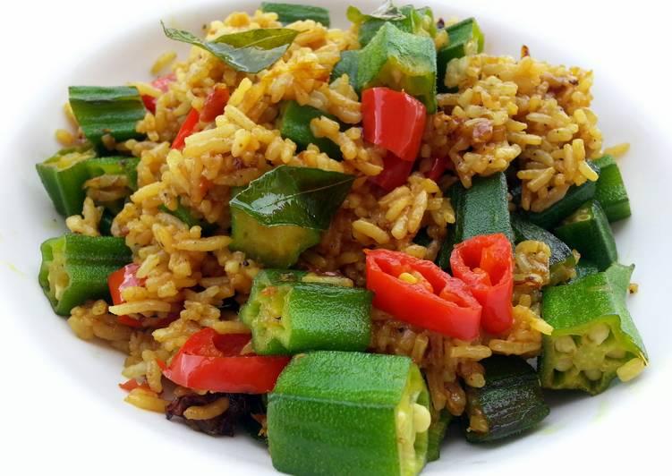 Okra In Tumeric Vegan Fried Rice