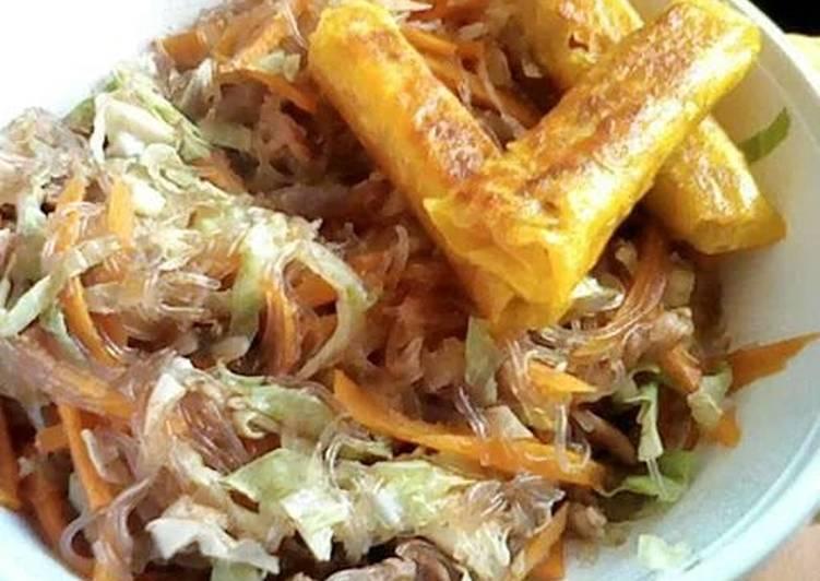 Chicken Sotanghon and pork lumpia