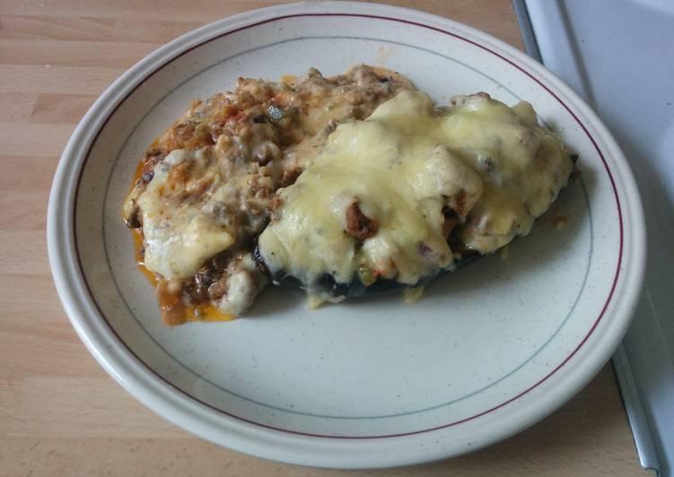Recipe: Tasty Stuffed aubergine