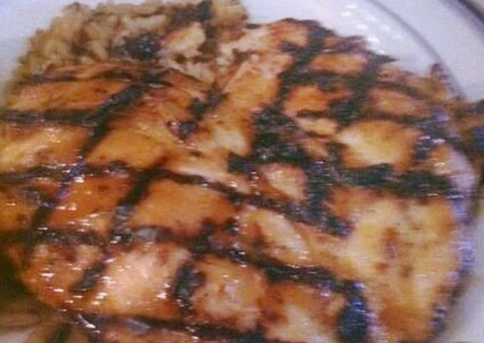 Grilled Chicken Breast with Pineapple Rum Glaze