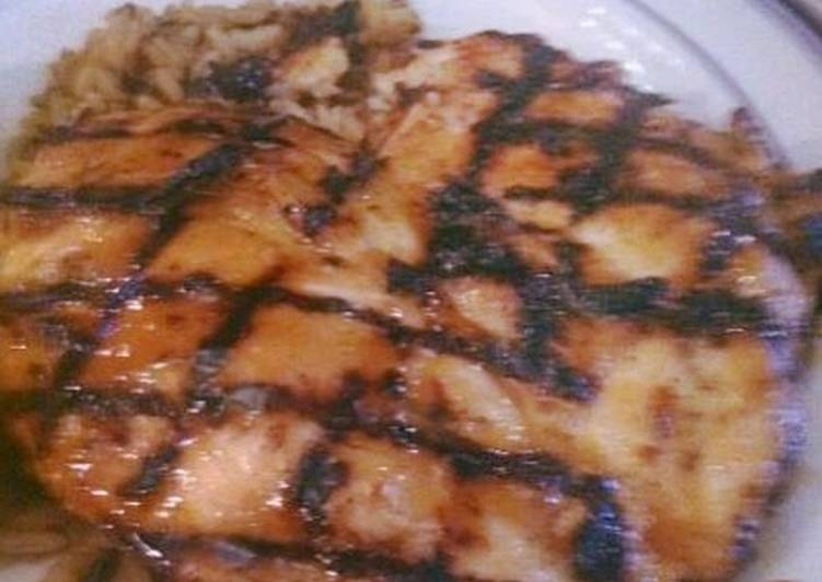 Easiest Way to Prepare Quick Grilled Chicken Breast with Pineapple Rum Glaze
