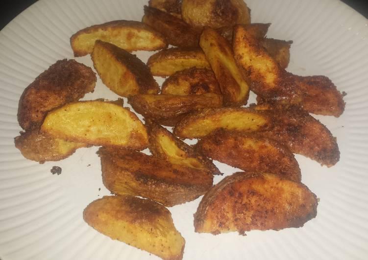 Recipe of Speedy Parmesan potato wedges