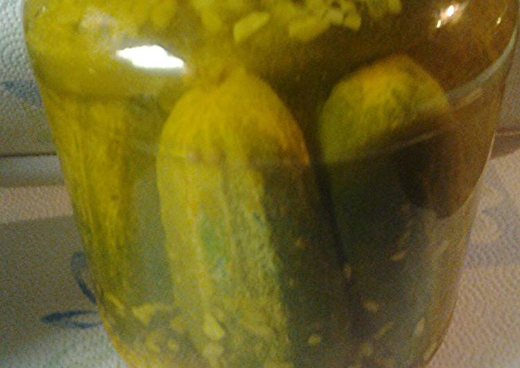 Recipe of Quick Whole Pickles with onions