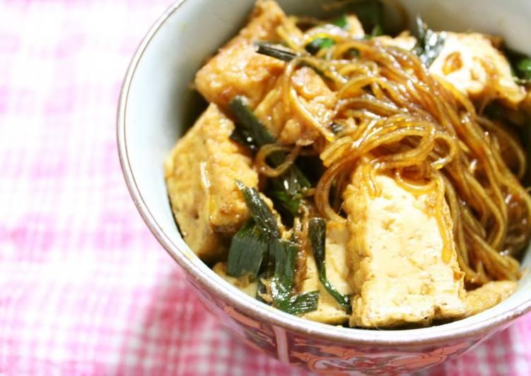 Recipe of Homemade Mapo Cellophane Noodles for Vegetarians