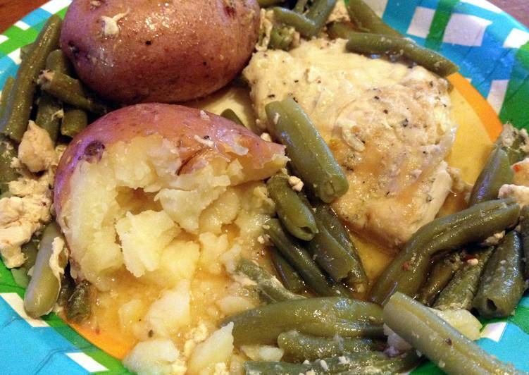 Recipe of Any-night-of-the-week Zesty Chicken Potatoes & Green Beans
