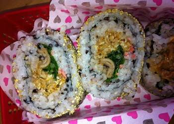 Easiest Way to Prepare Delicious Koreanstyle Spicy California Rolls with Five Grain Rice