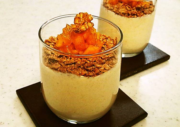 How to Prepare Any-night-of-the-week Light Autumn Mousse with lots of Persimmons