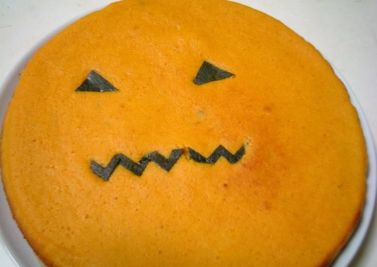 Steps to Make Favorite Kabocha Squash Cake (Halloween version)