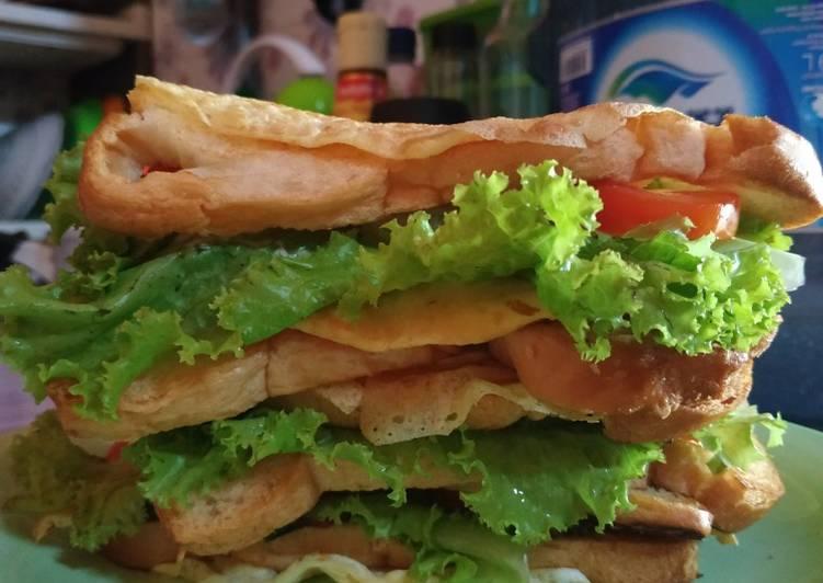 Resep Sandwich (bekal/sarapan simple) Bikin Jadi Laper