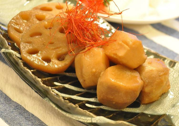 Steps to Make Any-night-of-the-week Simmered Taro in Rich Oyster Sauce