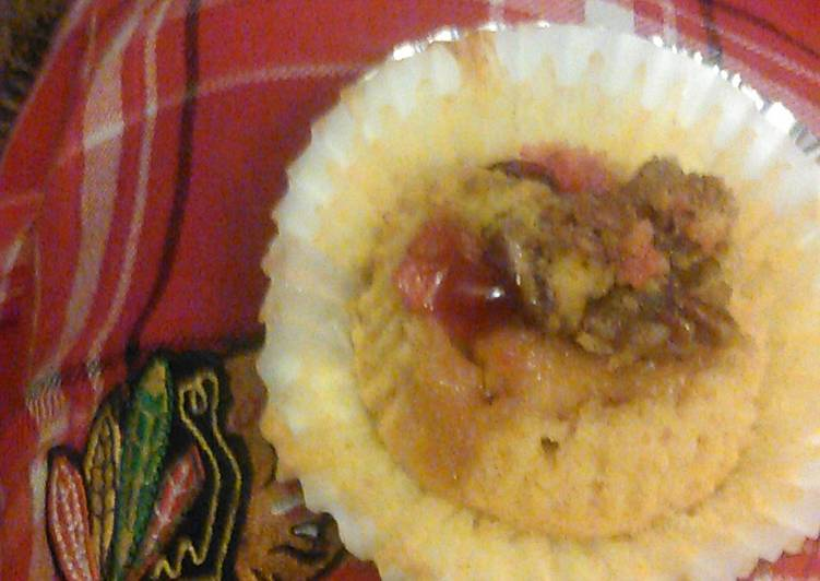 Pumpkin Cranberries Pecan Cupcake