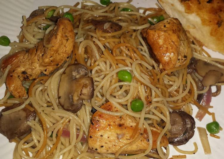 Recipe of Homemade Lemon pepper pasta with chicken