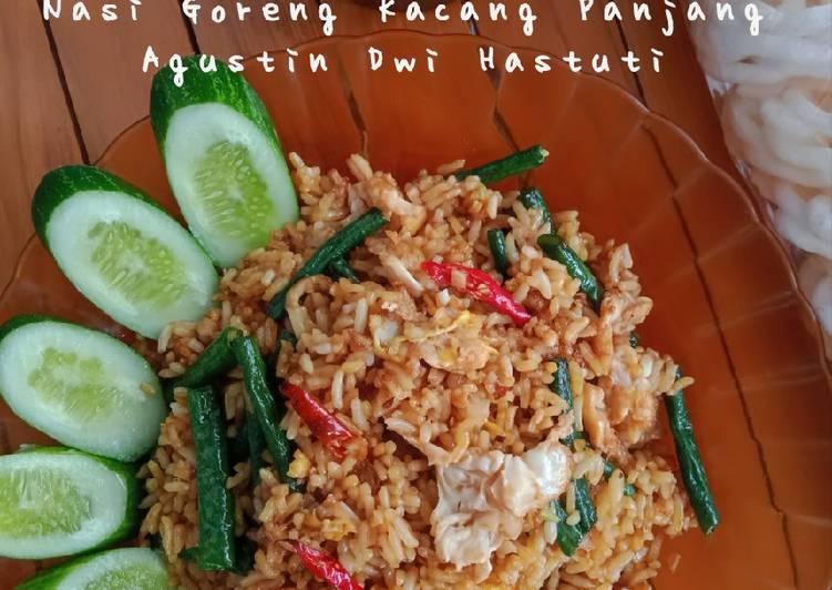 Nasi Goreng Kacang Panjang Bumbu Iris