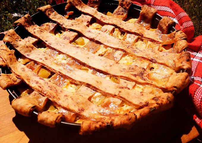 Tarte à la rhubarbe miel et piment d'Espelette