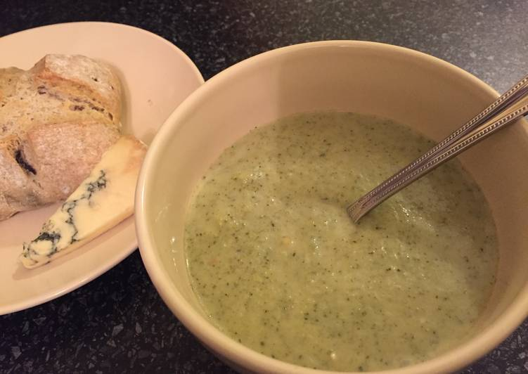 Easiest Way to Make Speedy Cream Of Broccoli And Stilton Soup