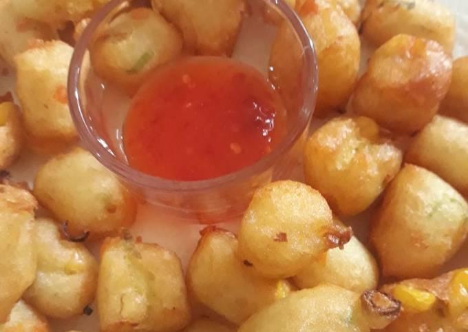 Perkedel kentang dan sayuran