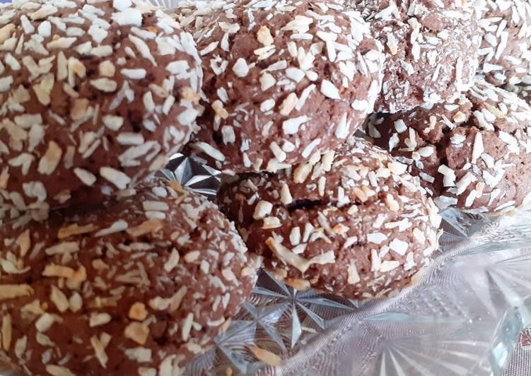 Gateaux aux chocolat et noix de coco