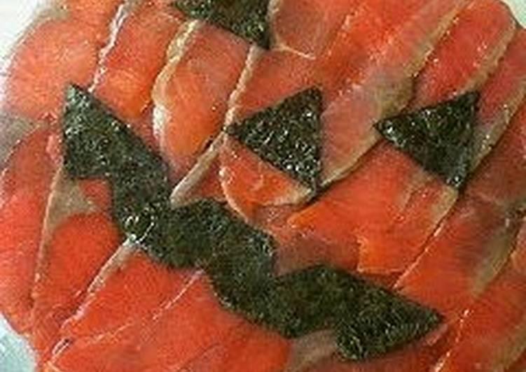 Salmon Sushi Cake for Halloween