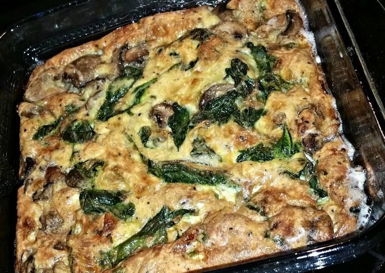Crustless veggie quiche