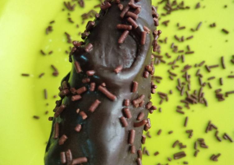 Es pisang coklat (es gedang) 😂