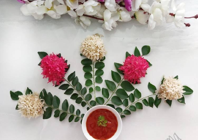 Steps to Make Super Quick Homemade Chicken Flower Dumplings