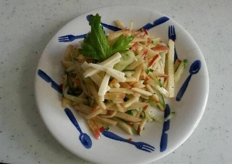 Steps to Prepare Quick Cucumber - Apple Salad