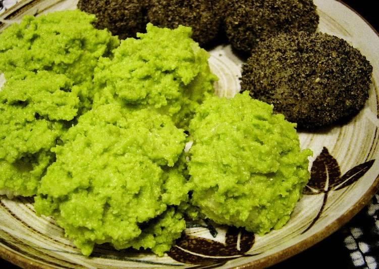 Recipe of Favorite Vibrant Green Creamy Zunda Edamame Mochi (Ohagi)