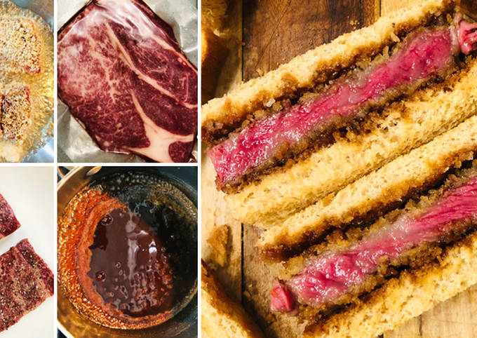 Recipe: Perfect Fullblood Wagyu Beef Katsu Sando