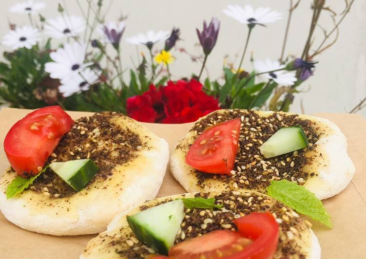 How to Prepare Yummy Zaatar flatbread (vegan pizza) #summerchallenge1