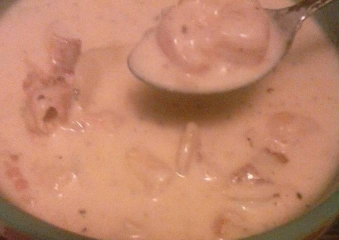 Kayla's shrimp and clam chowder