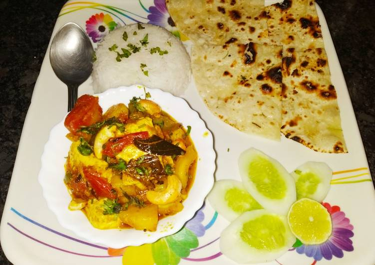 Easiest Way to Prepare Quick Mili Juli Subzi (Mixed vegetables) with butter naan