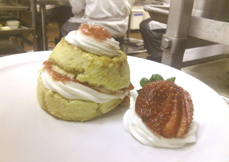 Strawberry Shortcake with Cornmeal Biscuits