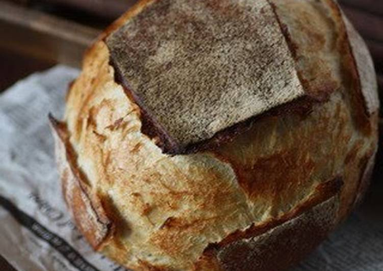 Pain de Campagne Made With Homemade Bread Starter