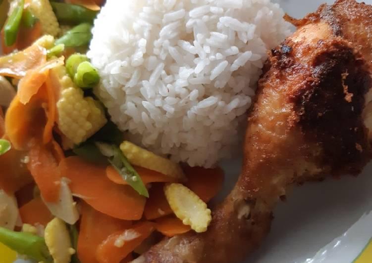 Ayam rempah tanpa ungkep