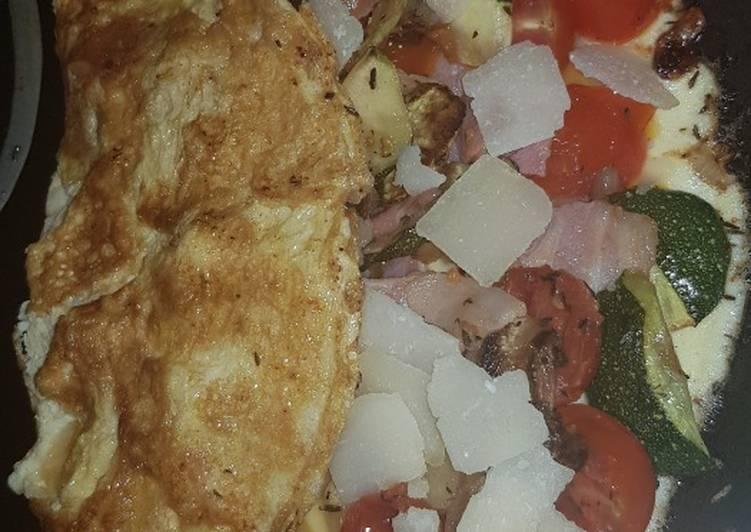Omelette legumes