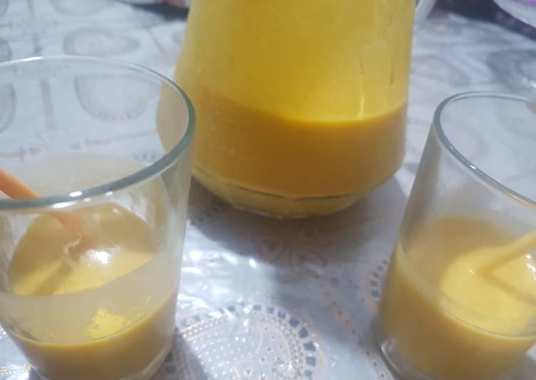 Healthy mango lassi