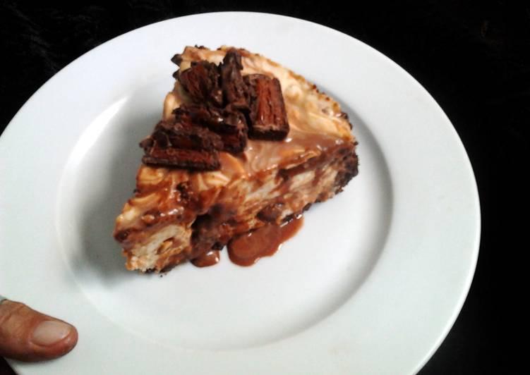 Ladybirds Mars Bar Cheese Cake .