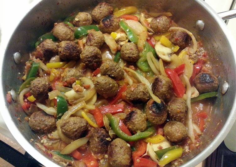 Meatballs and Peppers
