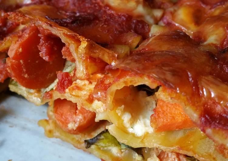 Easiest Way to Prepare Appetizing Farmers Market Veggie Lasagna