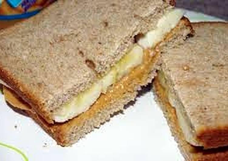 Banana peanut butter sandwich