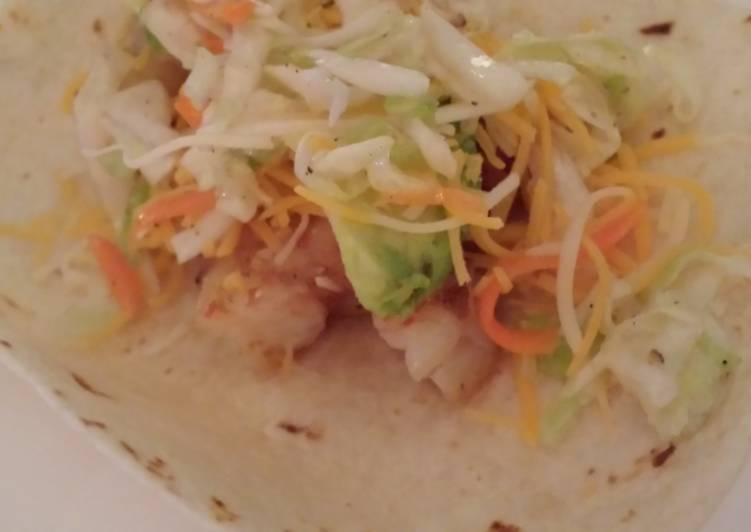 Tangy Shrimp and Slaw Tacos
