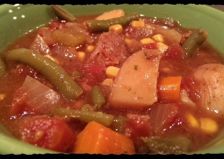 Vegetable Beef Stew (Crockpot)