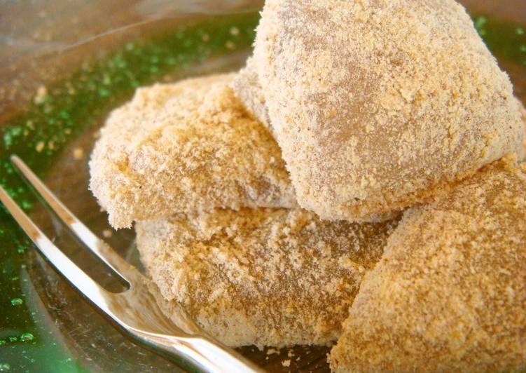 Recipe of Speedy Kinako Warabi Mochi