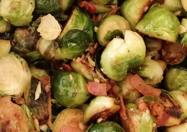 Step-by-Step Guide to Make Any-night-of-the-week Garlic, bacon brussels sprouts.