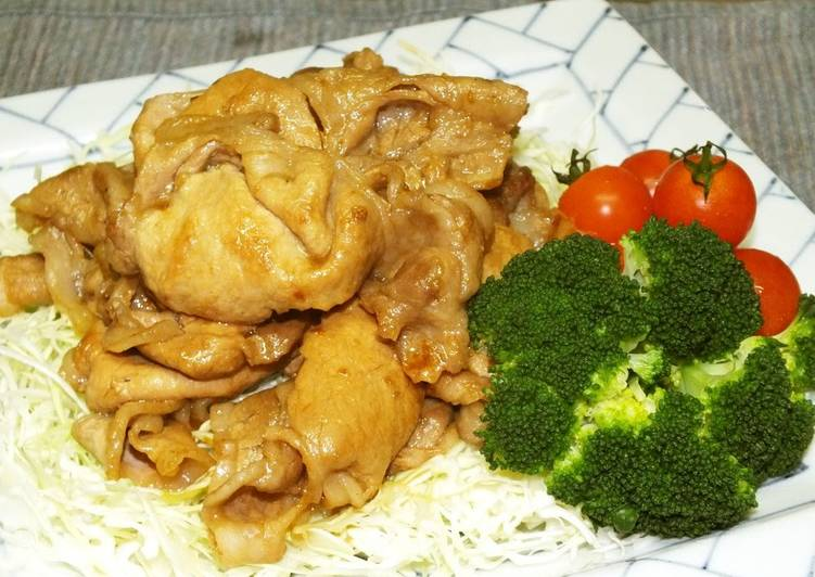 Steps to Prepare Perfect Ever Popular Ginger Fried Pork