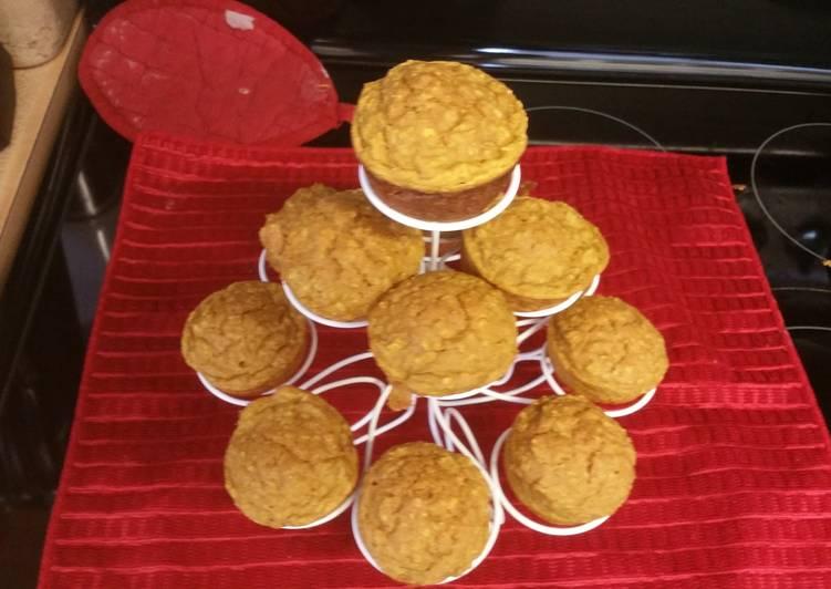 Pumpkin Pancake Oatmeal Muffins
