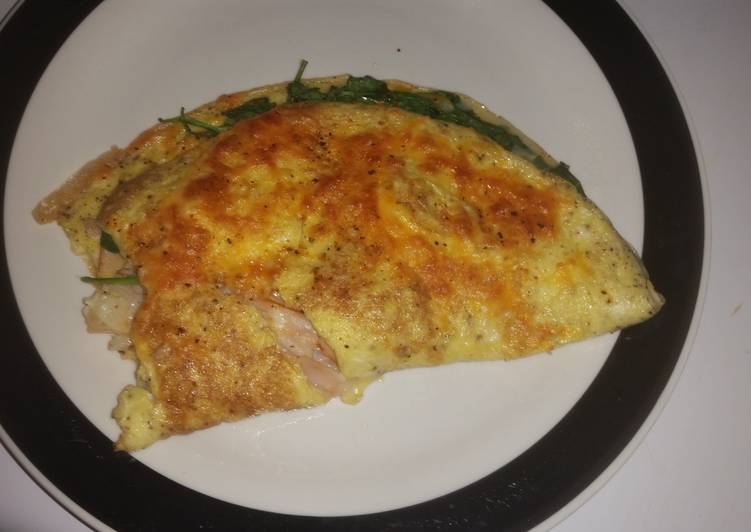 Simple Way to Make Super Quick Homemade Sweet healthy broiled omelet!