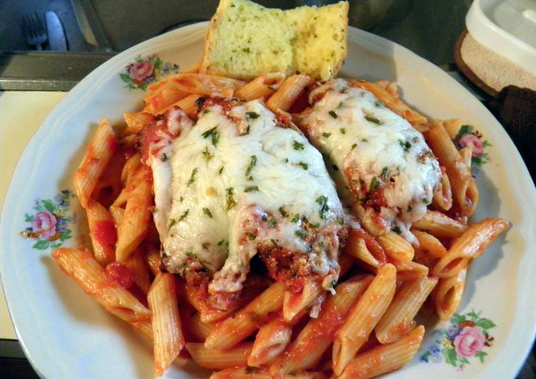 E -Z  Chicken Parm  and Penne